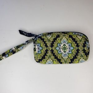 Vera Bradley small green & blue wristlet